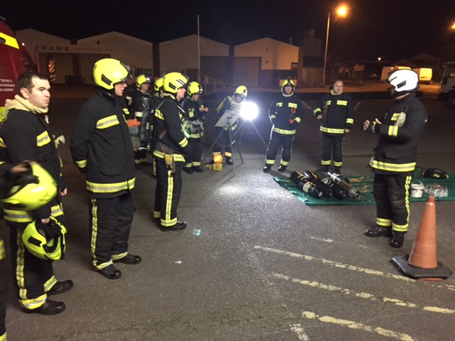 Exeter Depot Becomes Fire Training Scene