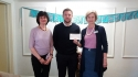 SHB present cheque to Jane Scarth House